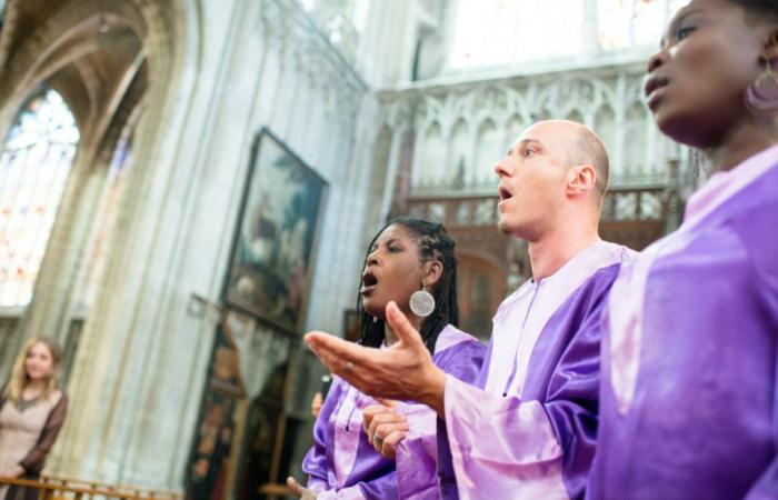 Cérémonie de baptême en Gospel